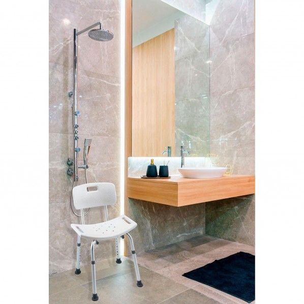 Cadeira de Banho Retangular com Pegas Cadiz