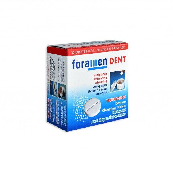 Pastilhas de Limpeza para Proteses Dentárias 32 un. - Foramen