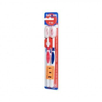 Escova de Dentes F-92 Média x2 - Forament