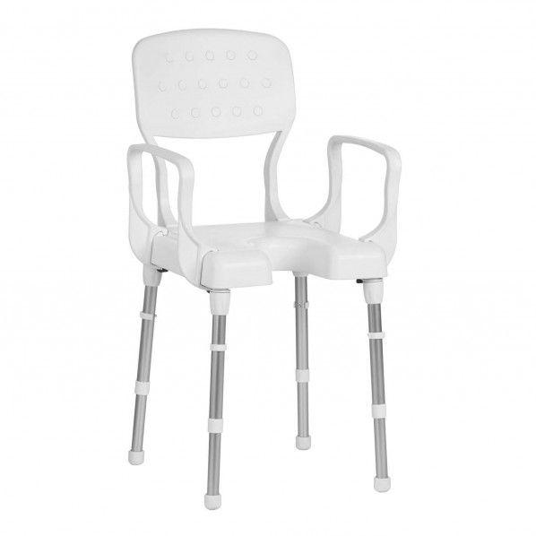 Cadeira de Banho com Braços e Assento em U Nizza