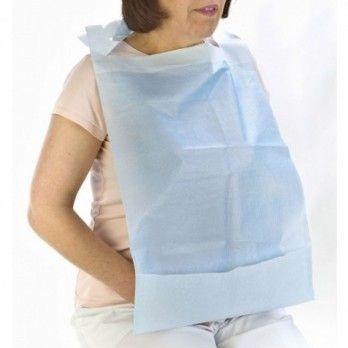 Babete Descartável Plástico com Bolsat
