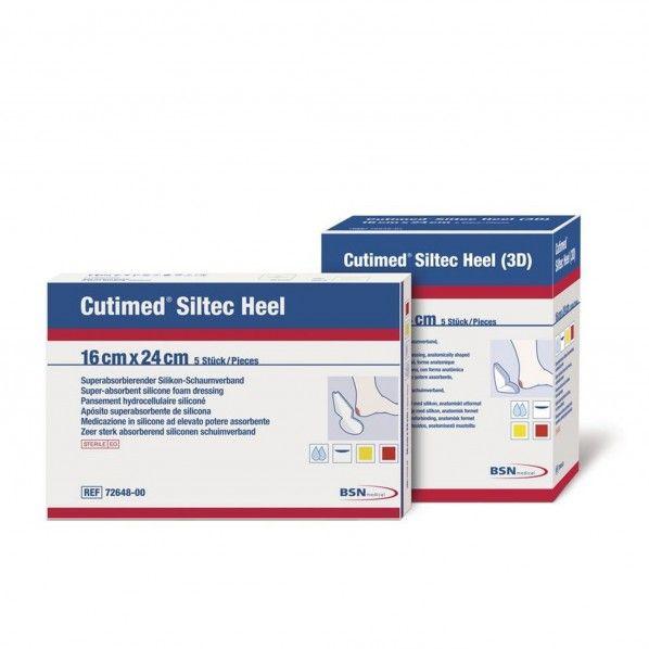 Cutimed Siltec Heel 16x24 cm - 5 unidades