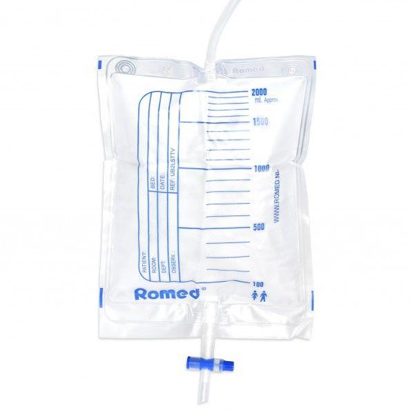 Saco para Urina com Válvula e Torneira - 2 litros