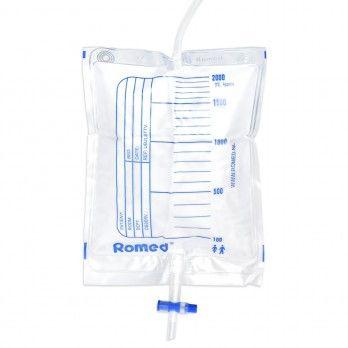Saco para Urina com Válvula e Torneira - 2 litrost