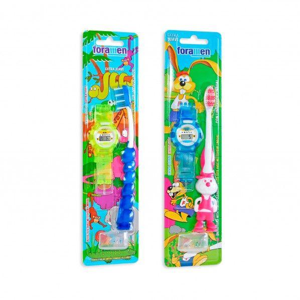 Escova de Dentes Extra Suave com Relógio
