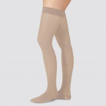 Compression Socks to the Thigh Grade I Short with Silicone Edge and Almond Design I - Juzo® Soft 270t