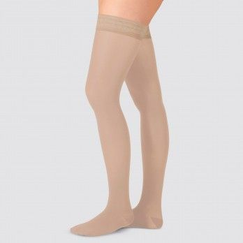 Grade I Compression Stockings with Lace and Silione Almond I - Juzo® Soft 2701 AGt