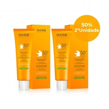 Babé Solar Photoprotector Facial Oil-Free SPF50 + 50 ml W / 50% Discount on 2nd Unitt