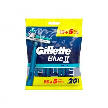 Lâminas de Barbear Gillette Blue II Plus - 20 unidadest