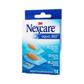 Adhesive Strips Nexcare Aqua 360º Strips - 14 unitst