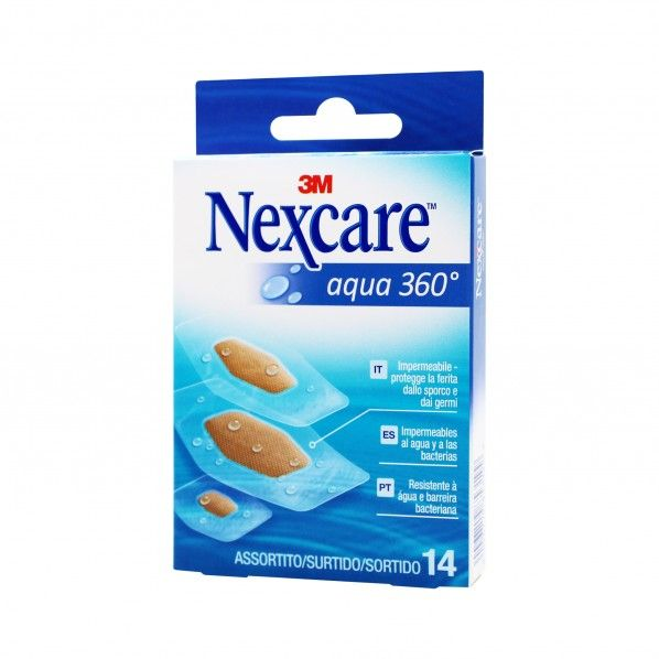 Tiras Adesivas Nexcare Aqua 360º Strips - 14 unidades