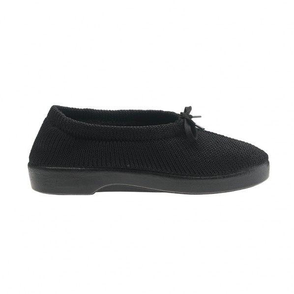 Sapatos para Senhora em Malha com Cordão Confy Pêssego