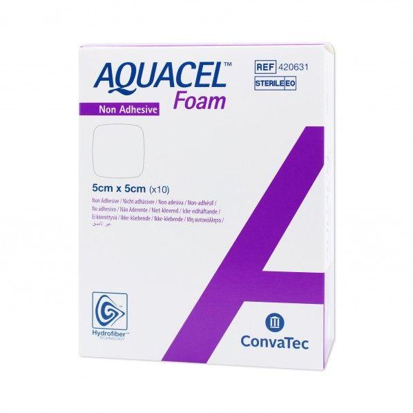 Aquacel Foam Não-Aderente 10x10cm - 10 unidades