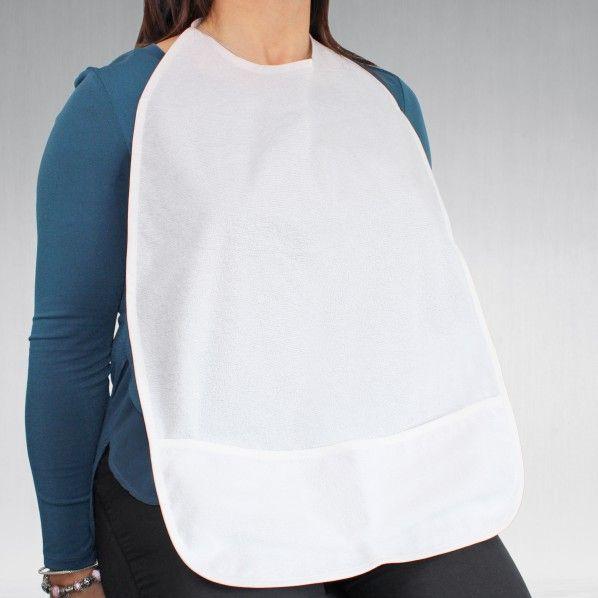 Babete para Adulto Impermeável com Bolsa - 61 x 42 cm