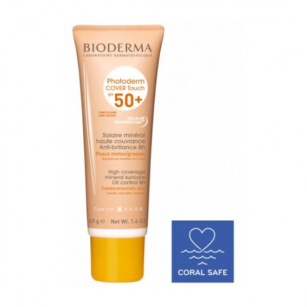 Bioderma Photoderm Cover Touch FPS50+ Claro - 40 gramas