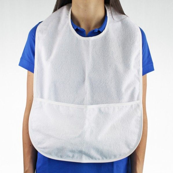 Babete para Adulto Impermeável com Bolsa - 60 x 40 cm
