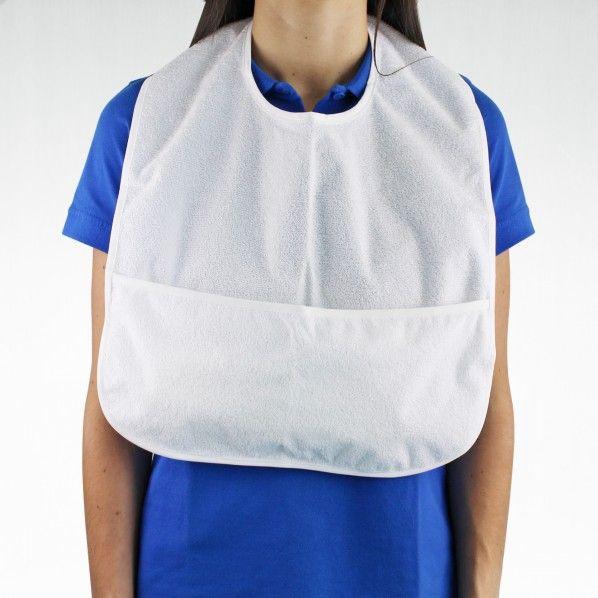 Babete para Adulto Impermeável com Bolsa - 50 x 40 cm