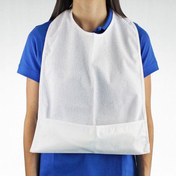 Babete para Adulto Impermeável com Bolsa - 60 x 38 cm