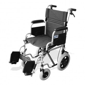 OPM Transit Wheelchair with Solid Wheels - 43 cmt