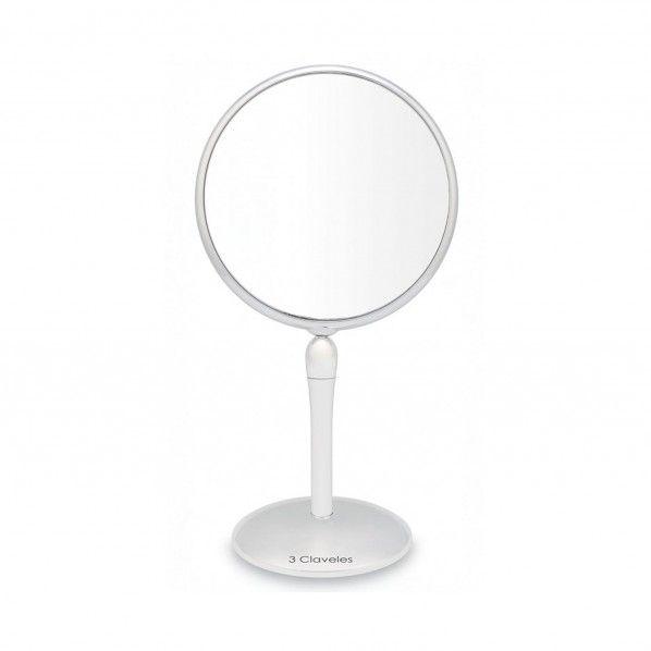 Espelho de Ampliação com Base Giratória 18 cm - 3 Claveles