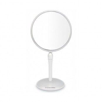 Espelho de Ampliação com Base Giratória 18 cm - 3 Clavelest
